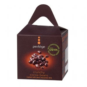 Crunchy Cocoa Beans - No Sugar Added Free PERLEGE Belgian Chocolates Gift Box 100g